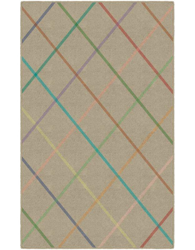 Winston Porter Calvin Beige Area Rug, Size: Rectangle 76 x 10