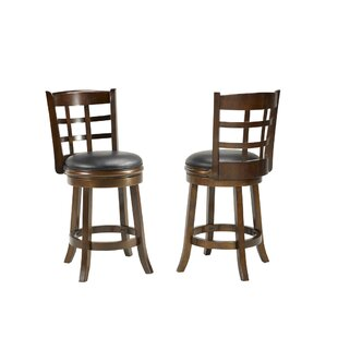 Meetinghouse 24 Swivel Bar Stool (Set of 2) by Bloomsbury Market