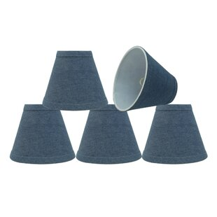 Clip On 6'' Fabric Empire Lamp Shade (Set of 5)