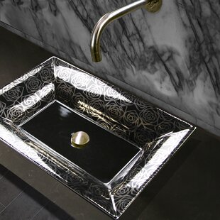 Nantucket Sinks Regatta Ceramic Rectangular Vessel Bathroom Sink