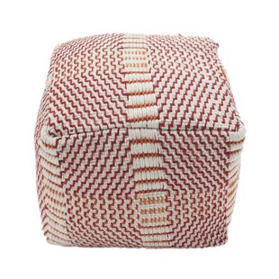 Ean Boho Square Outdoor Ottoman with Cushion by Bay Isle Home