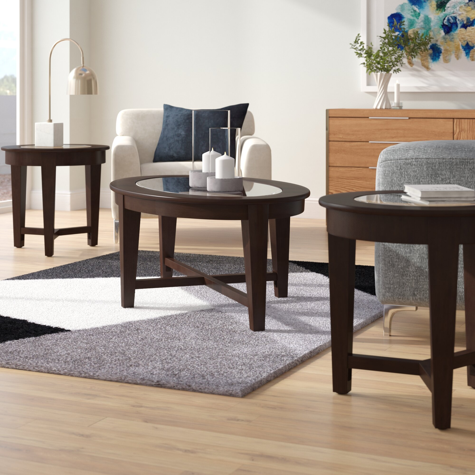 Latitude Run Jalbert 3 Piece Coffee Table Set Reviews Wayfair