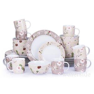Natural Blossom 32 Piece Dinnerware Set