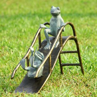 SPI Home Shay Sliding Frogs Garden Statue