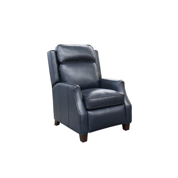 Canora Grey Rodrick Genuine Leather Manual Recliner Reviews Wayfair