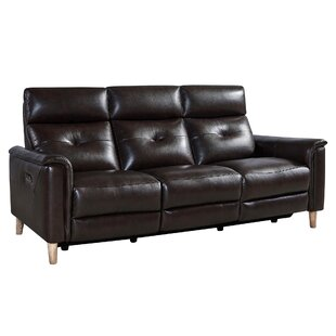 Best Reviews Yoshioka Leather Reclining Sofa by Red Barrel Studio Reviews (2019) & Buyer's Guide