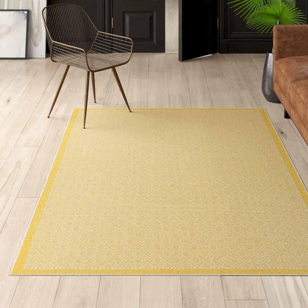 Geometric Yellow Gold Area Rugs You Ll Love In 2021 Wayfair