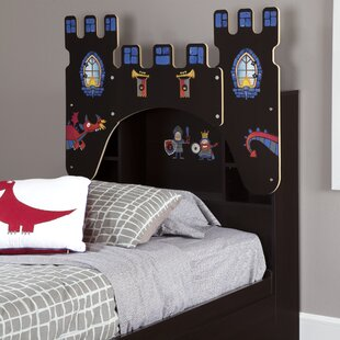Olympia Twin Bookcase Panel Castle Headboard by Andover Mills