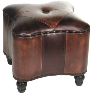 Lisette Leather Ottoman by..