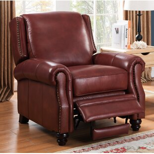 Aine Leather Recliner by Darby Home Co