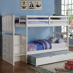 Doll Twin Over Twin Bunk Bed With Trundle by Harriet Bee Coupon