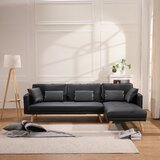 Aracely 70 Faux Leather Right Hand Facing Sleeper Sofa & Chaise by Corrigan Studio®