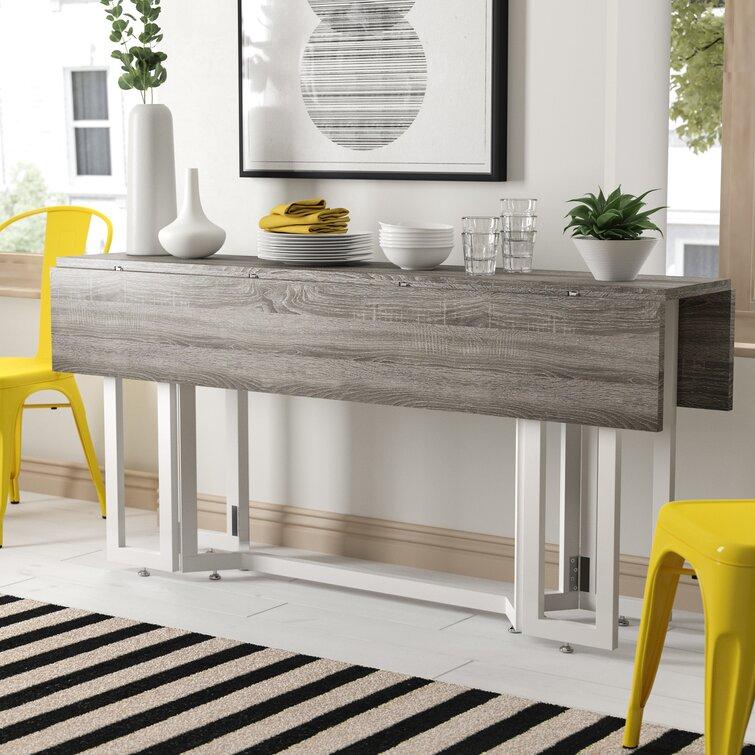 Zipcode Design Adams Drop Leaf Trestle Dining Table Reviews Wayfair