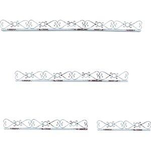 4 Piece Iron Ledges Shelf Set