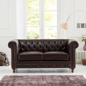 2-Sitzer Sofa Montrose aus Leder von Home Etc