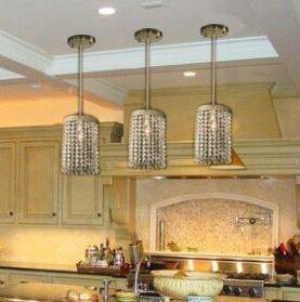 Calidia Crystal Socket Ceiling 1 Light Semi Flush Mount by Everly Quinn