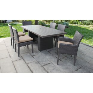 Medley 7 Piece Dining Set with Cushions