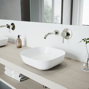 VIGO Matte Stone Square Vessel Bathroom Sink