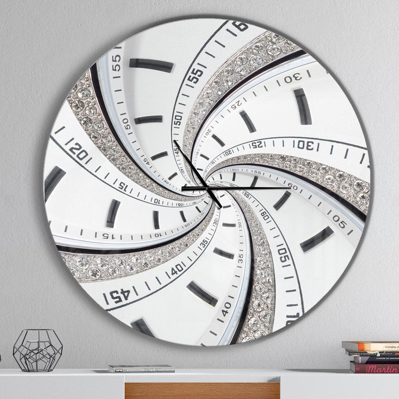 East Urban Home Swirled Time Vortex Contemporary Wall Clock Wayfair