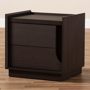 Hoschton 2 Drawer Nightstand by Ebern Designs