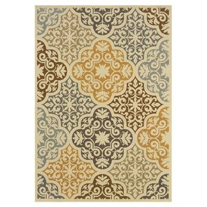 Colton Yellow/Brown Indoor/Outdoor Area Rug