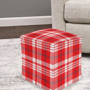 Cushing Plaid Pouf by August Grove