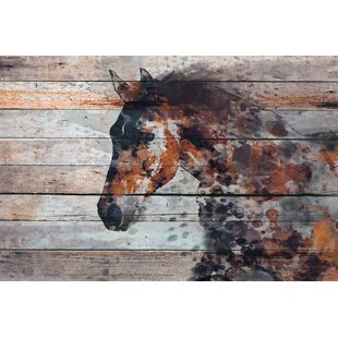 'Fire Horse' Print on Canvas