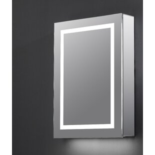 Bodily 50cm X 70cm Bluetooth Speaker Mirror Cabinet With LED Lighting By Wade Logan