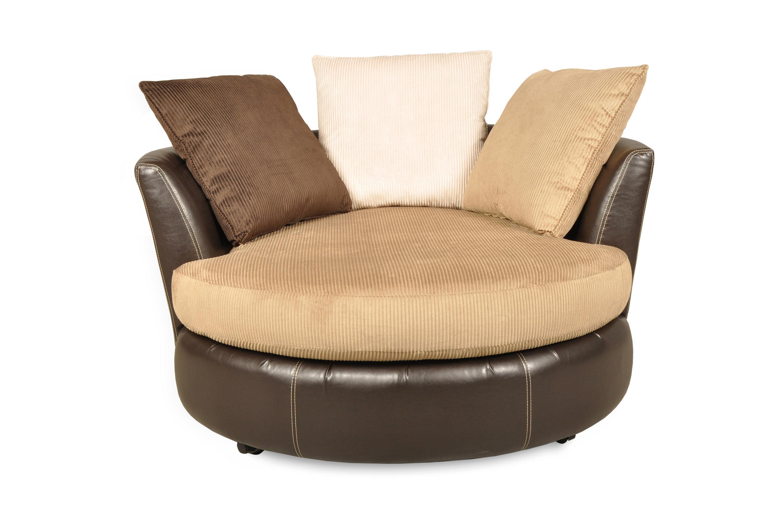 Brayden Studio Leake Swivel Chair And A Half | Wayfair