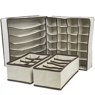 4 Piece Collapsible Drawer Organize Set