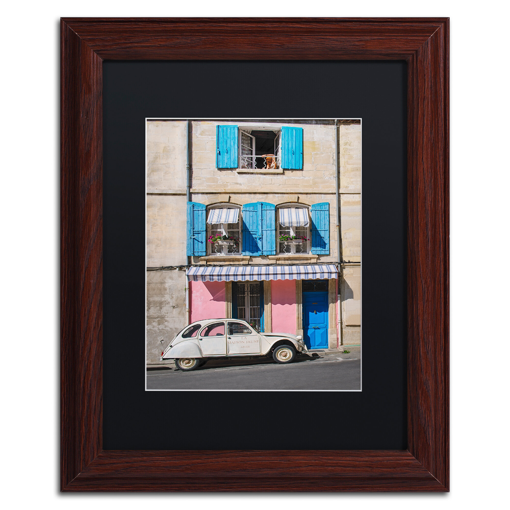 Trademark Art Woman At The Window By Michael Blanchette Framed Photographic Print Wayfair