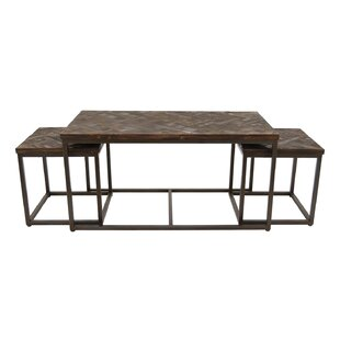 Nolasco 3 Piece Coffee Table Set