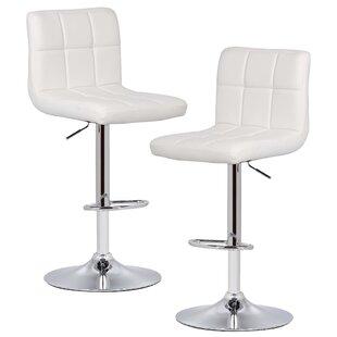 Winchell Adjustable Height Swivel Bar Stool (Set of 2)