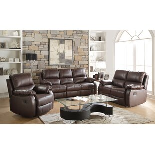 Arno Reclining Motion 3 Piece Living Room Set by Darby Home Co