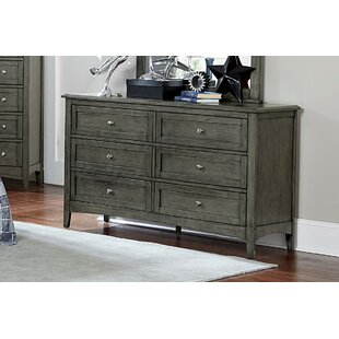 Charlton Home Socorro 6 Drawer Double Dresser with Mirror