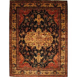 Indian Hand-Knotted Wool Brown/Black Area Rug By Pasargad NY