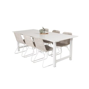Caja Dining Set With 6 Chairs By Ebern Designs