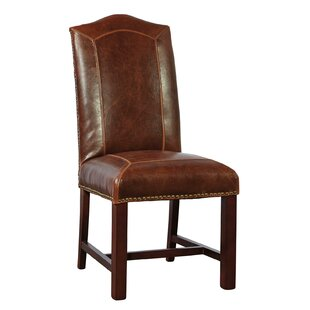 Blake Genuine Leather Upholstered Dining Chair (Set of 2)