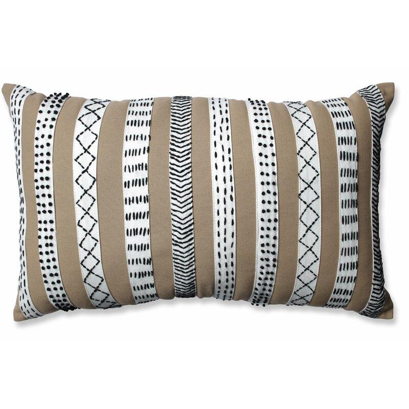 Pillow Perfect Tribal Bands Cotton Lumbar Pillow Reviews Wayfair