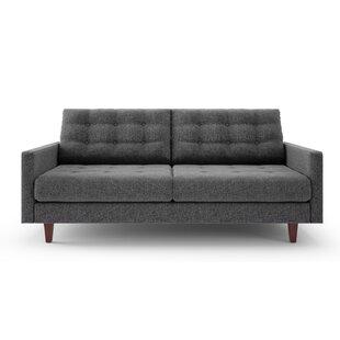 Superb Light Grey Tufted Sofa | Wayfair
