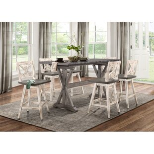 Gracie Oaks Marlon Counter Height Dining Table