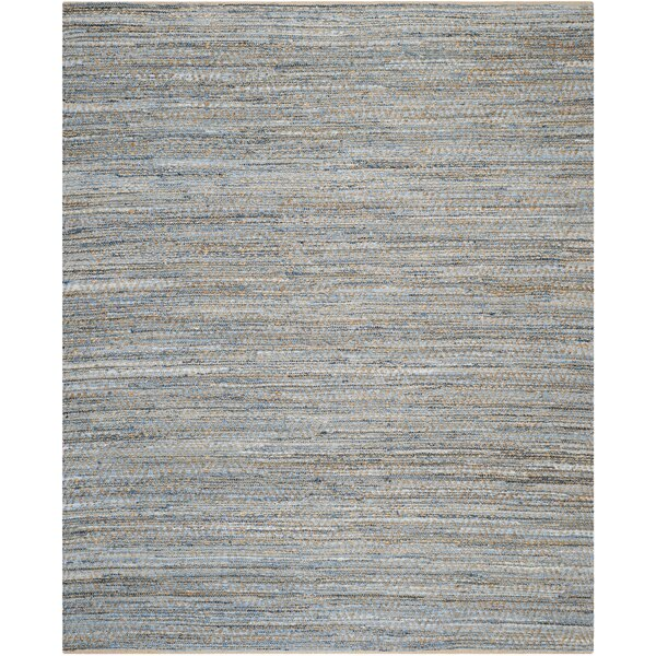 Gilchrist Hand Woven Natural Blue Area Rug