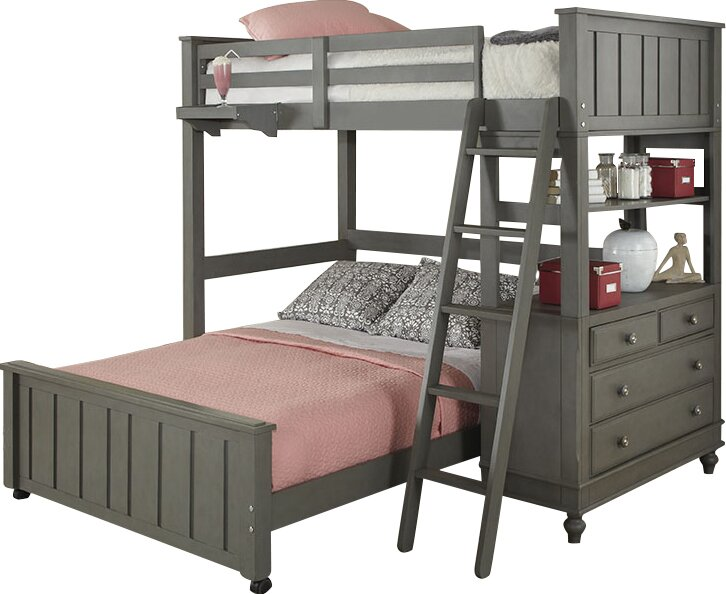 Viv + Rae Holly Loft with Full Size Lower Bed & Reviews | Wayfair