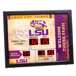 NCAA Bluetooth Scoreboard Wall Clock ByEvergreen Enterprises, Inc