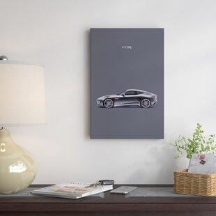 'Jaguar F-TYPE' Graphic Art Print on Canvas ByEast Urban Home