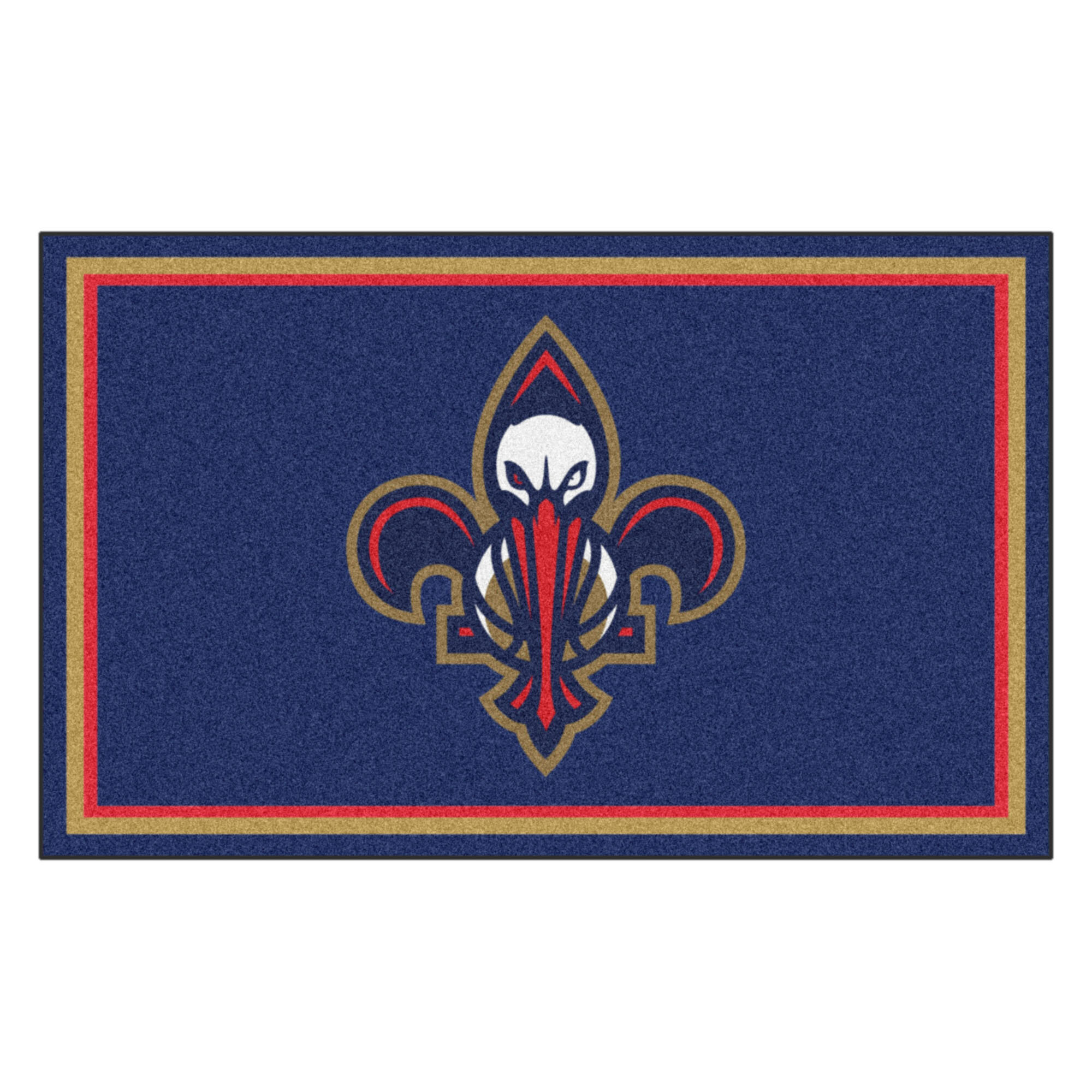 Nba New Orleans Pelicans 72 In X 48 In Non Slip Indoor Only Door Mat