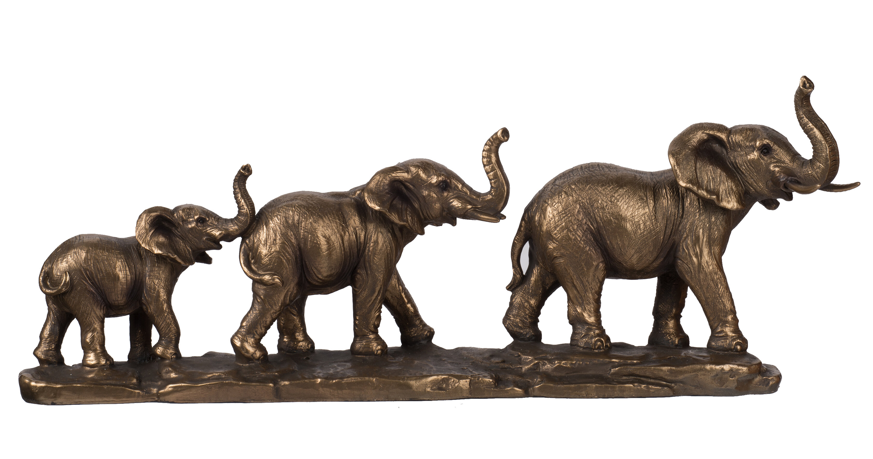 World Menagerie Chavez Elephant Family Figurine Wayfair