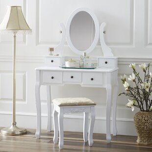 Chelsey Dressing Vanity Set with Mirror by Charlton Home