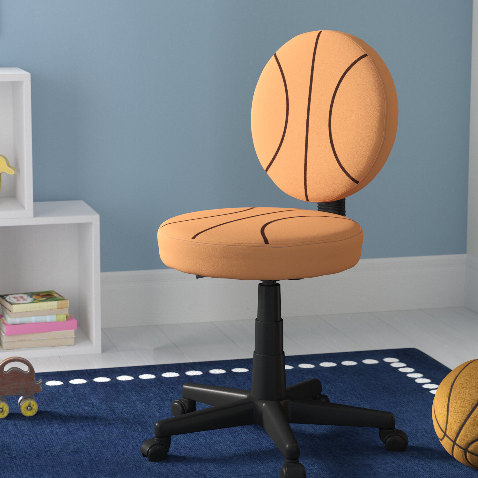 Super Lynda Basketball Mid Back Kids Chair Gmtry Best Dining Table And Chair Ideas Images Gmtryco