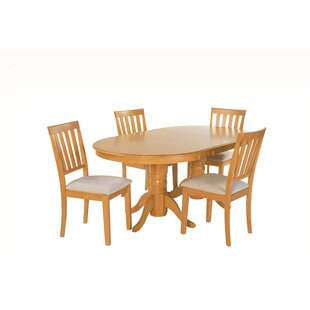 Inwood 5 Piece Extendable Solid Wood Dining Set by DarHome Co Best Choicest